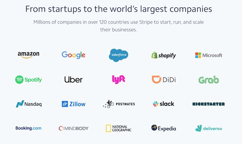 stripe trusted by world leading companies as well as by soundsuit